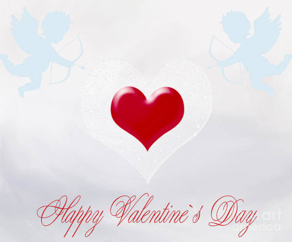 Wallpaper Mixed Media - Happy Valentine by Dani Prints and Images