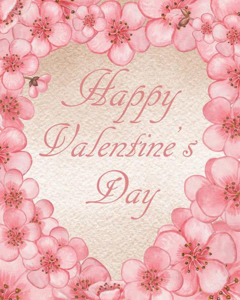 Painting - Happy Valentine Pink Heart by Irina Sztukowski
