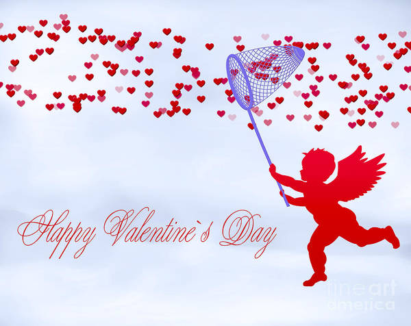 Wallpaper Mixed Media - Happy Valentines Day by Dani Prints and Images
