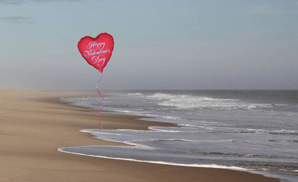 Photograph - Happy Valentine's Day From The Beach by Robert Banach
