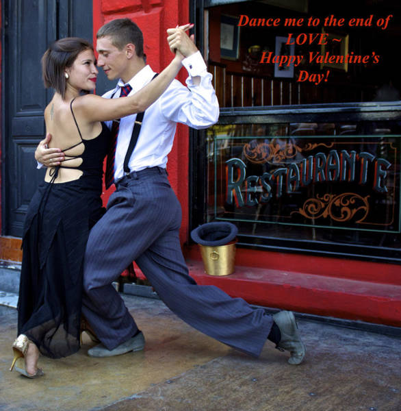 Greetingcards Photograph - Happy Valentine's Day From Argentina by Venetia Featherstone-Witty