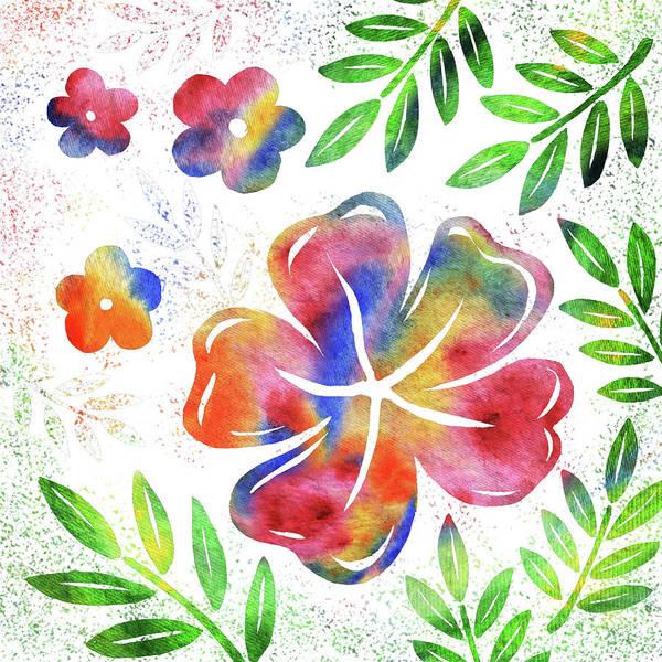 Hibiscus Flower Painting - Happy Watercolor Flowers by Irina Sztukowski