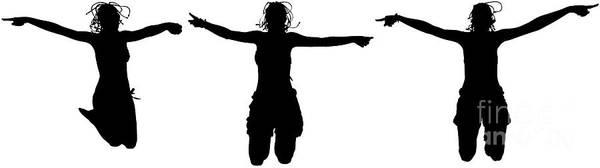 Digital Art - Happy Women Jumping by Benny Marty