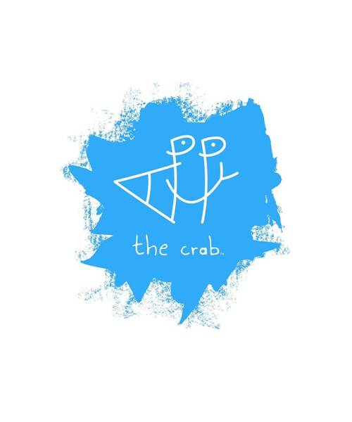 Wall Art - Mixed Media - Happy The Crab - Blue by Chris N Rohrbach