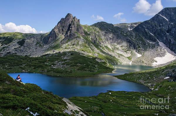 Photograph - Haramiya Mountain-twin Lake-2 by Steve Somerville