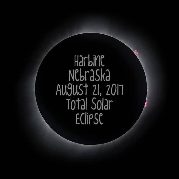 Harbine Nebraska Total Solar Eclipse August 21 2017 Art Print
