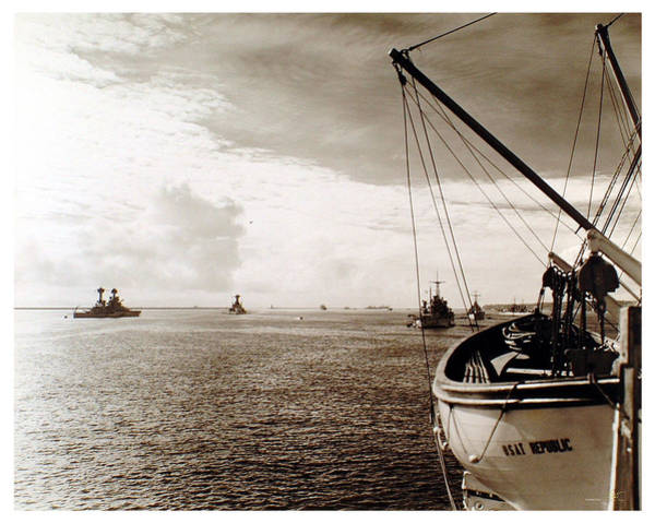 Photograph - Harbor 1944 by Wayne Davis Johnson