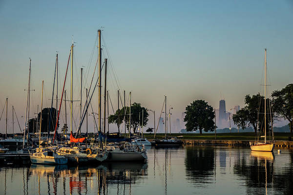 Photograph - Harbor And Chicago Skyline by Sven Brogren