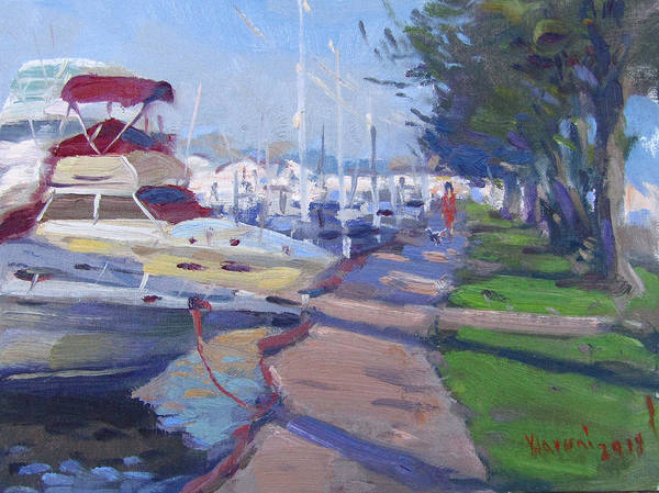 Tonawanda Wall Art - Painting - Harbor At North Tonawanda by Ylli Haruni
