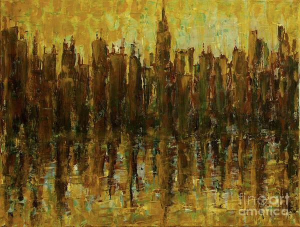 Painting - Harbor City Sunrise by Tim Musick