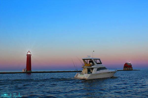 Lighthouse Wall Art - Photograph - Harbor Holland Light by Michael Rucker