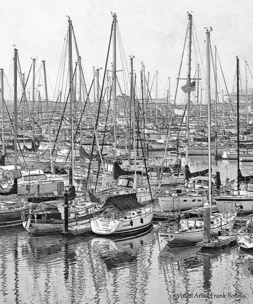 Digital Art - Harbor II by Visual Artist Frank Bonilla