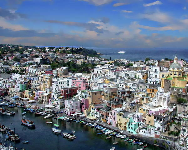 Photograph - Harbor In Corricella by Anthony Dezenzio