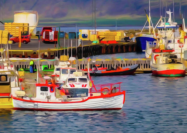 Photograph - Harbor In Iceland by Tom and Pat Cory