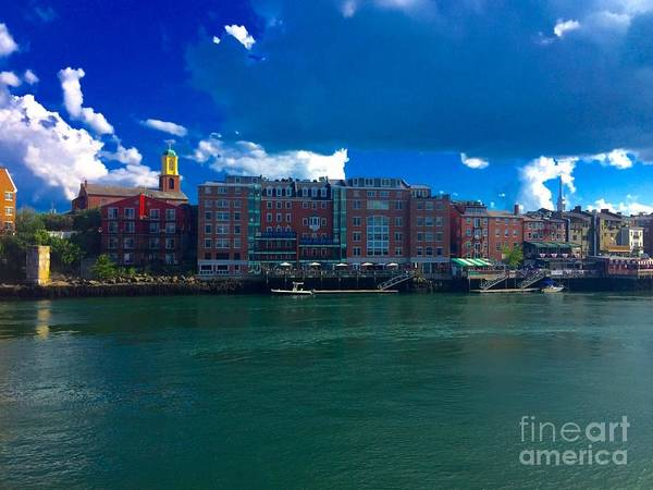 Painting - Harbor In Portsmouth, New Hampshire by Susan Hendrich