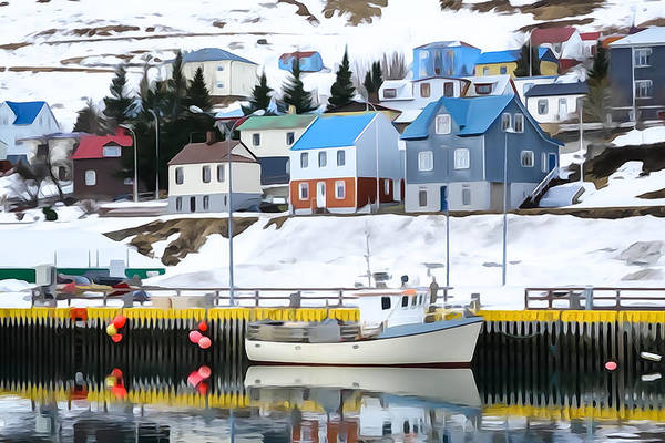 Photograph - Harbor In Siglufjordur, Iceland by Tom and Pat Cory