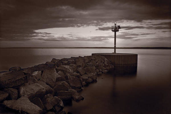 Small Town Photograph - Harbor Light Bayfield Wisconsin by Steve Gadomski