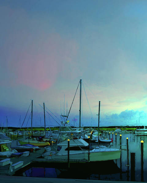 Digital Art - Harbor Lights by Gina Harrison