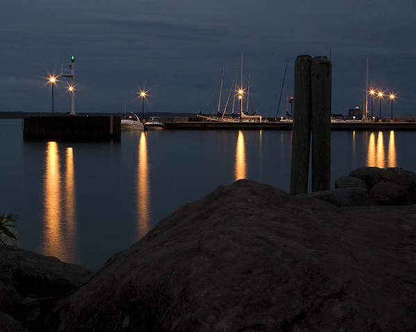 Bayfield Wall Art - Photograph - Harbor Lights by William Oswald