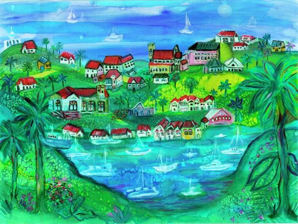 Island Wall Art - Painting - Harbor Of Dreams by Bridget Weber