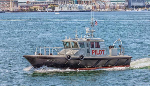 Photograph - Harbor Pilot Boat Mystic by Brian MacLean