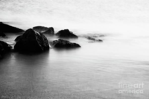 Photograph - Harbor Rocks And Misty Ocean I by Charmian Vistaunet