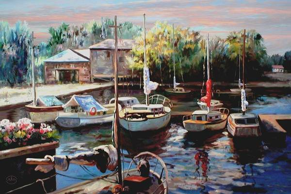 Wall Art - Photograph - Harbor Sailboats At Rest 3 by Ron Chambers