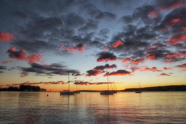Upper Wall Art - Photograph - Harbor Sunrise by Heather Kenward