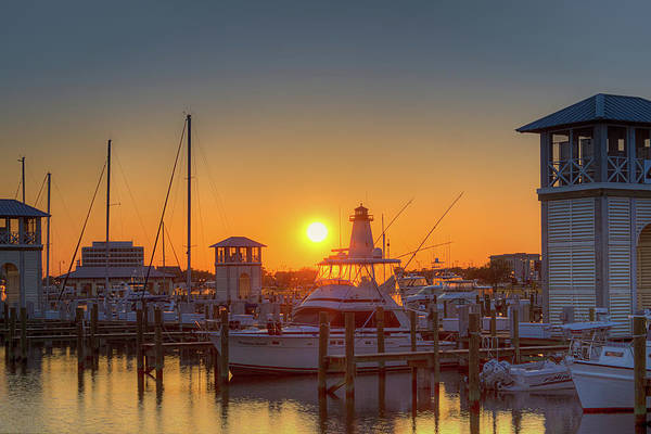 Photograph - Harbor Sunset by Barry Jones