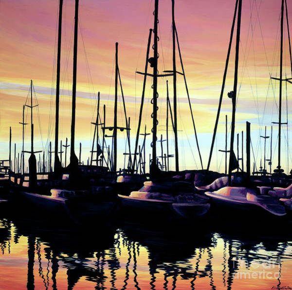Painting - Harbor Sunset by Elisabeth Sullivan