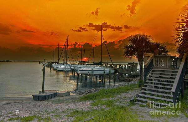 Photograph - Harbor Sunset  by James Hennis