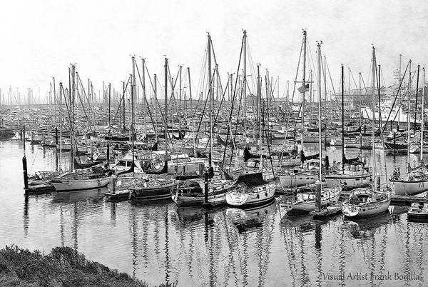 Digital Art - Harbor by Visual Artist Frank Bonilla