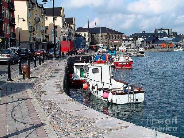 Photograph - Harbour At Dungarvan by Val Byrne