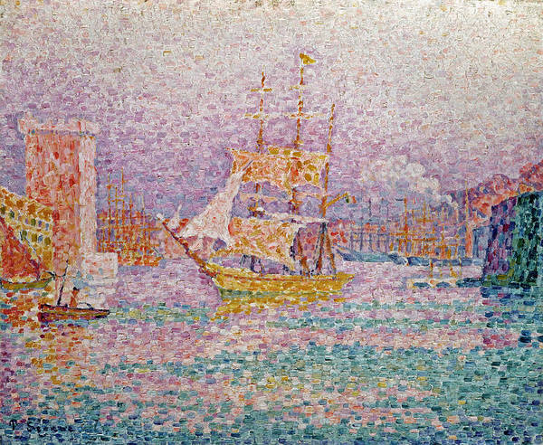 Southern France Painting - Harbour At Marseilles by Paul Signac