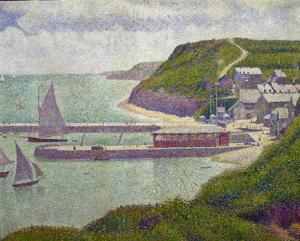 Wall Art - Painting - Harbour At Port En Bessin At High Tide by Georges Pierre Seurat