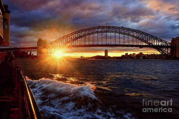 Wall Art - Photograph - Harbour Bridge Sunset By Kaye Menner by Kaye Menner