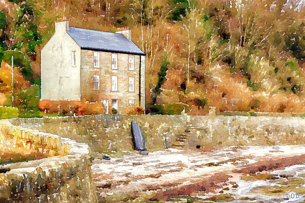 Donegal Digital Art - Harbour House by Declan O'Doherty