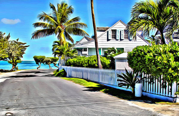 Bahamas Digital Art - Harbour Island Street by Anthony C Chen