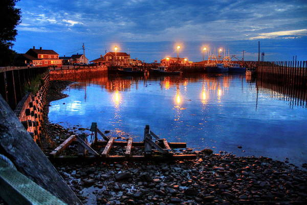 Photograph - Harbour Lights by David Matthews
