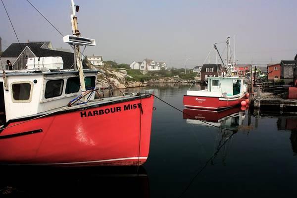 Photograph - Harbour Mist Boat by David Matthews