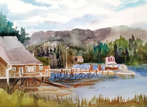 Painting - Harbour Scene by Larry Hamilton