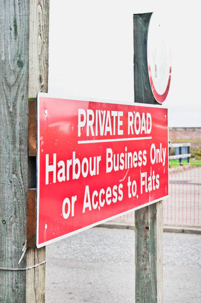 Restriction Photograph - Harbour Sign by Tom Gowanlock