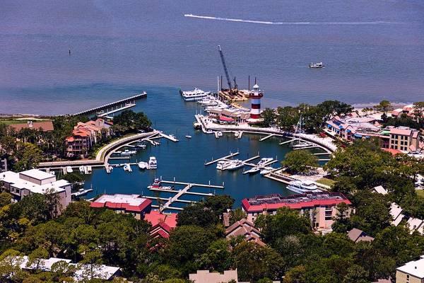 Hilton Head Island Photograph - Harbour Town Lighthouse And Marina - Hilton Head Island, South Carolina by Library Of Congress