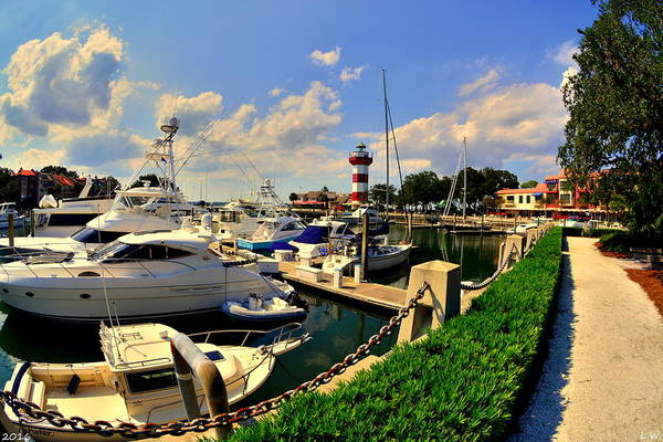 Harbour Town Marina Sea Pines Resort Hilton Head Sc Art Print