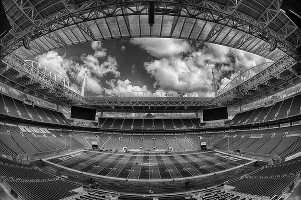 Hard Rock Photograph - Hard Rock Stadium Black And White by Robert Hayton