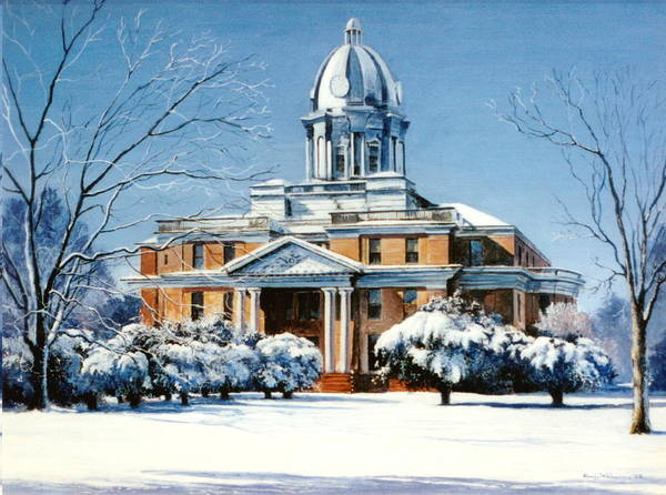 Courthouse Painting - Hardin County Courthouse by Randy Welborn
