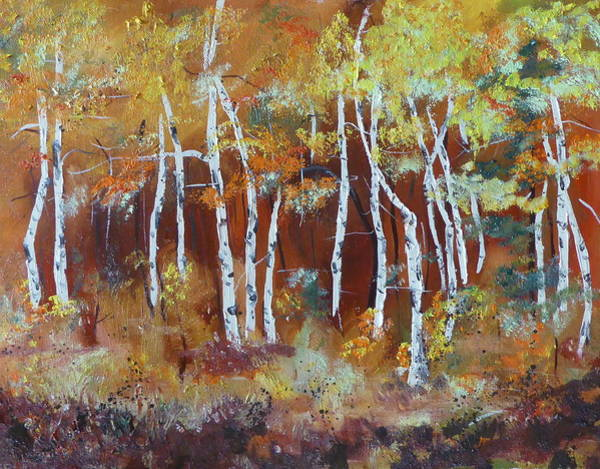 Harding Way  Aspens Dancing Art Print