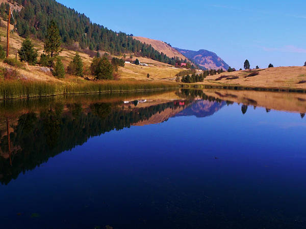 Photograph - Hardy Mountain Lake Grand Forks Bc by Barbara St Jean