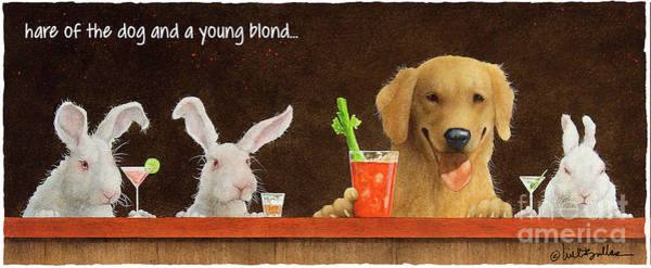 Painting - Hare Of The Dog And A Young Blond... by Will Bullas