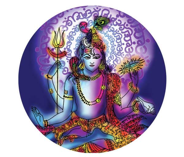 Painting - Hari Hara Krishna Vishnu by Guruji Aruneshvar Paris Art Curator Katrin Suter